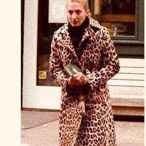 Beautiful FAUX animal print trench coat